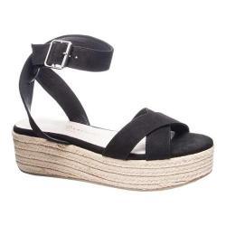 Women's Chinese Laundry Zala Platform Sandal Black Microsuede
