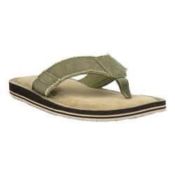 Men's Crevo Lakin Flip Flop Olive Hemp