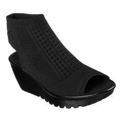 Women's Skechers Parallel Tight Knit Wedge Sandal Black