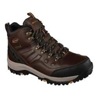 Men's Skechers Relaxed Fit Relment Traven Hiking Boot Dark Brown