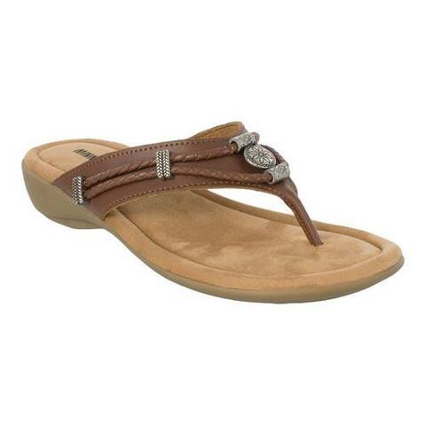 Women's Minnetonka Silverthorne Thong Whiskey Leather