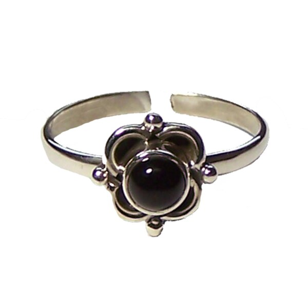 Handmade Black Onyx Ring (India)