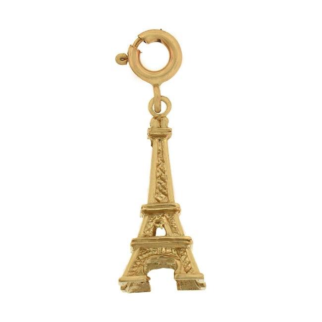 14k Gold 3-D Eiffel Tower Charm