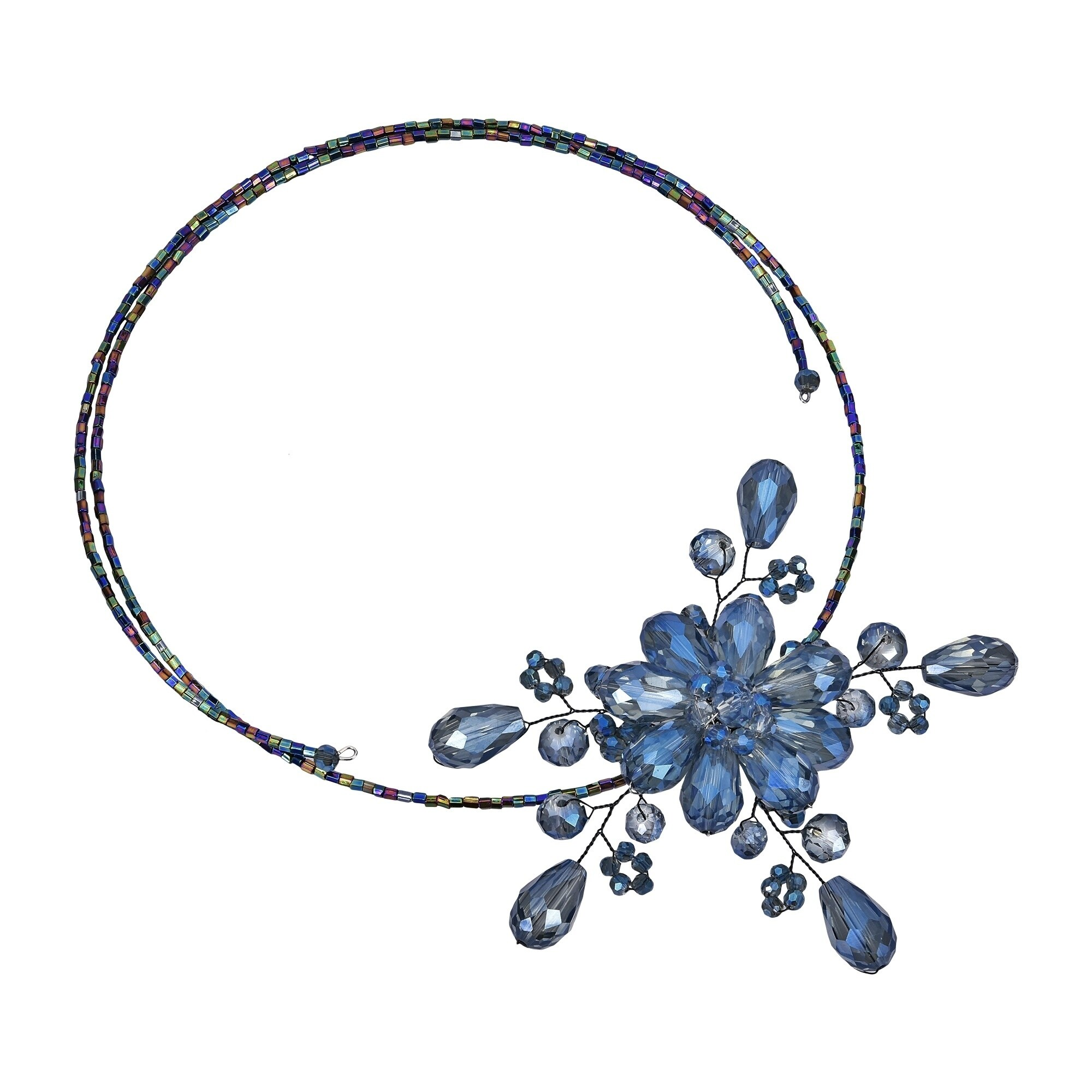 Choker Necklace Wire please provide neck measurement in message silver tone