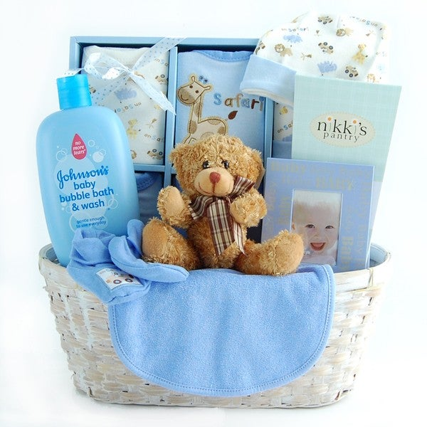 Shop New Arrival Baby Boy Gift Basket - Free Shipping Today - Overstock - 2453911 & Shop New Arrival Baby Boy Gift Basket - Free Shipping Today ...