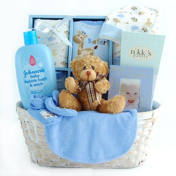 Shop New Arrival Baby Boy Gift Basket Overstock 2453911