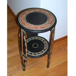 Tribal Mask Pedestal Table (Ghana)