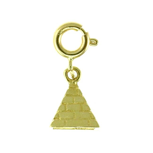 14k Gold 3-D Pyramid Charm - Thumbnail 1