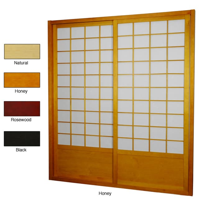 Handmade Zen Shoji Double-Sided Sliding Door Kit (China)