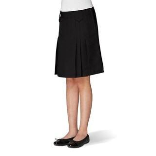 French Toast Front Pleated Skirt With Tabs Girls