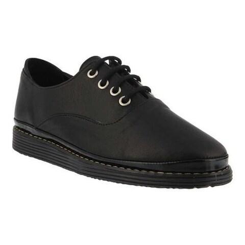 Women's Azura Brega Oxford Black Leather