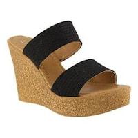 Women's Azura Fiora Wedge Sandal Black Synthetic