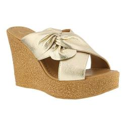 Visit Cheap Price Clearance Azura Veria Pleated Bow Slide(Women's) -Rose Gold Leather Authentic Sale Online Buy Cheap Collections WPpMo