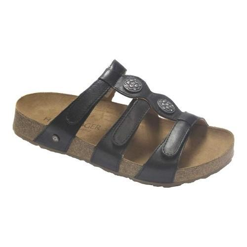 837182e6a50c4 Shop Women's Haflinger Alice Slide Sandal Onyx Leather - Free Shipping  Today - Overstock - 20870215