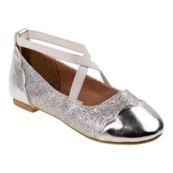 Girls' Josmo 96788M Strappy Ballet Flat Silver (More options available)