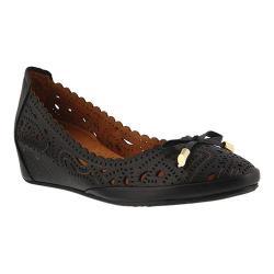 Women's Spring Step Elwanda Ballet Flat Black Leather (More options available)