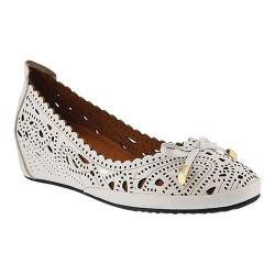 Women's Spring Step Elwanda Ballet Flat White Leather