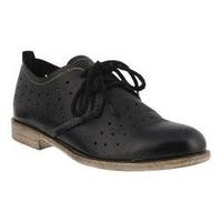 Women's Spring Step Reginia Oxford Black Leather