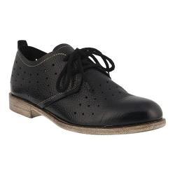 Women's Spring Step Reginia Oxford Black Leather