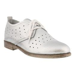 Women's Spring Step Reginia Oxford Silver Metallic Leather
