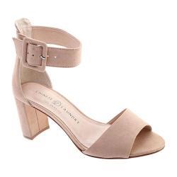 Women's Chinese Laundry Rumor Ankle Strap Sandal Dark Nude Microsuede