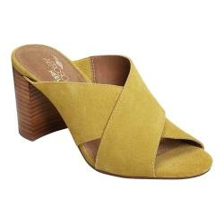 Women's Aerosoles High Alert Slide Sandal Yellow Suede