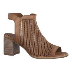 Women's Tamaris Vivi Caged Sandal Cognac Leather