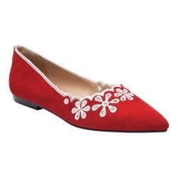 Women's Ann Creek Leon Embroidered Ballet Flat Red