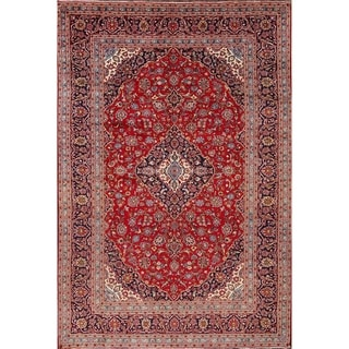 "Kashan Handmade Medallion Wool Persian Traditional Livingroom Area Rug - 11'9"" x 7'11"""