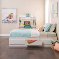 Prepac White Wood 3-drawer Twin Mate's Platform Storage Bed