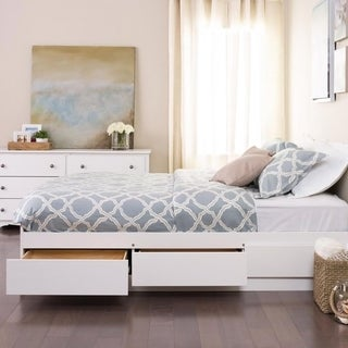 winslow white queen platform storage bed - Storage Bed Frames