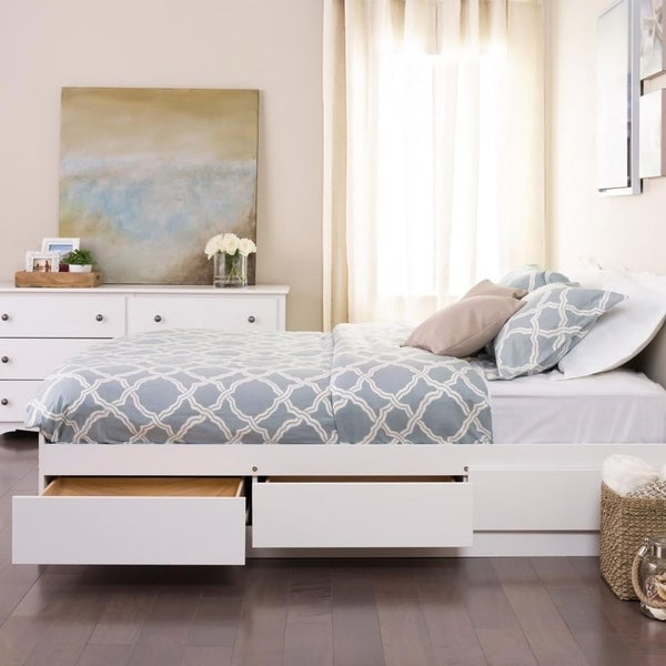 Winslow White Full Double Platform Storage Bed