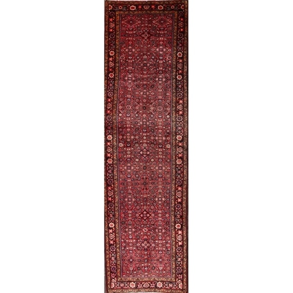 Hamedan Hand Knotted Wool Palace Sized Persian Fl Runner Rug 14 Ft 13 X27