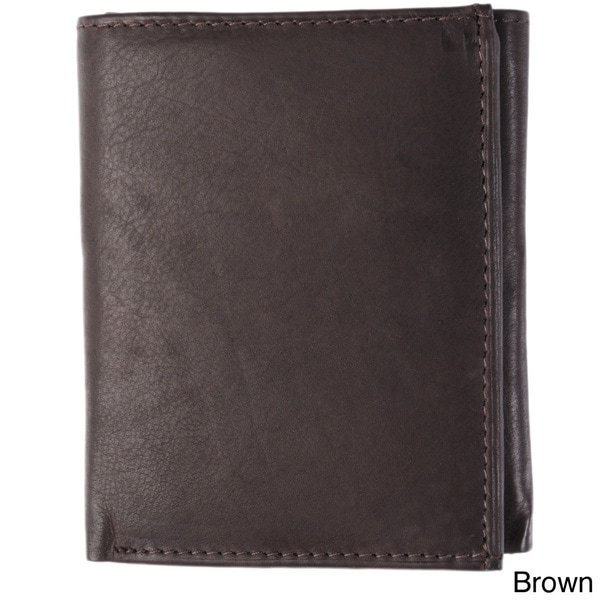 Boston Traveler York Collection Leather Tri-Fold Men's Wallet