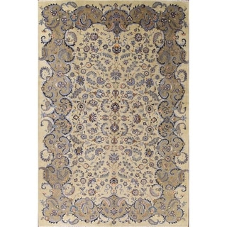 "Kashan Hand Made Persian Area Rug For Living Room - 12'9"" x 8'6"""