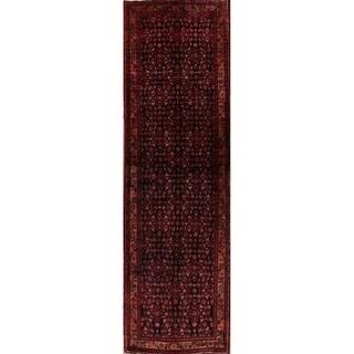 """Hamedan Oriental Handmade Wool Persian Rug - 13'4"""" x 4'0"""" runner"""