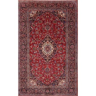 "Floral Hand Made Kashan Persian Area Rug for Living Room - 12'5"" x 7'10"""