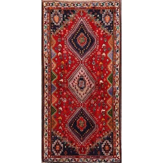"""Antique Hand Made Abadeh Nafar Persian Rug for Bedroom - 6'0"""" x 2'10"""""""