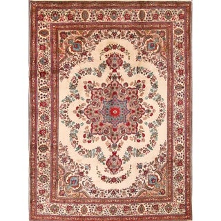 """Oriental Hand Knotted Traditional Tabriz Persian Area Rug - 13'5"""" x 9'8"""""""
