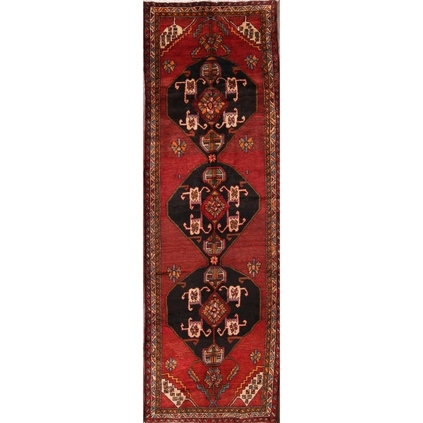 "The Curated Nomad Sanford Heriz Persian Geometric Handmade Heirloom Item Area Rug - 12'3"" x 4'0"" runner"