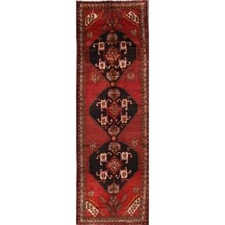 "The Curated Nomad Sanford Heriz Persian Geometric Handmade Heirloom Item Area Rug - 12'3"" x 4'0"" runner"
