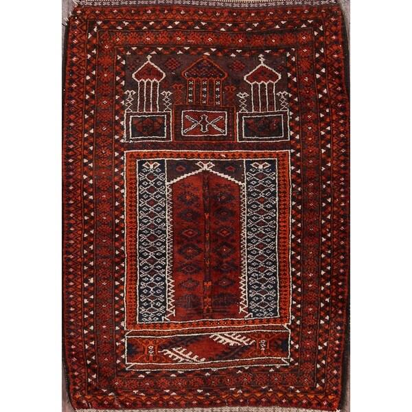 "Balouch Traditional Hand Made Afghan Afghanistan Oriental Area Rug - 4'2"" x 3'0"""