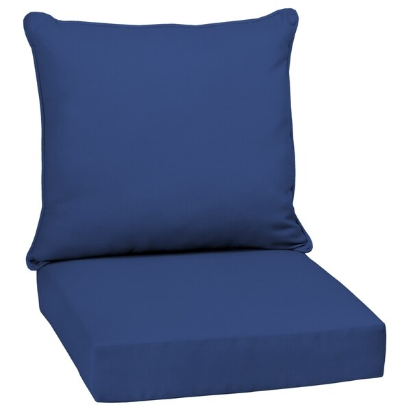 Arden Selections™ Lapis Canvas Texture Outdoor Deep Seat Set in Blue (As Is Item)