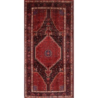 "The Curated Nomad Mears Vintage Geometric Handmade Wool Persian Heirloom Item Area Rug - 10'6"" x 5'3"""