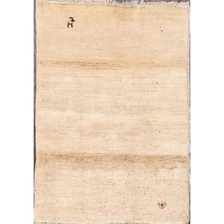 "Gabbeh Classical Shiraz Persian Handmade Wool Solid Area Rug - 3'8"" x 2'8"""