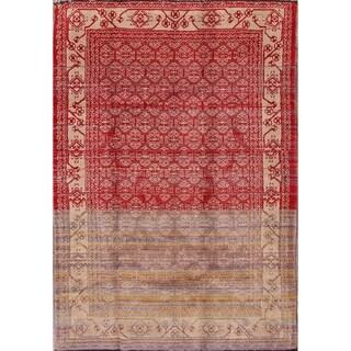 "Geometric Tribal Shiraz Handmade Wool Large Persian Area Rug - 7'0"" x 4'11"""