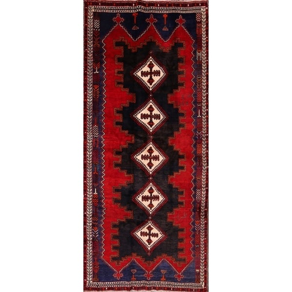 "Shiraz Handmade Persian Oriental Wool Rug for Hallway - 12'10"" x 5'8"""