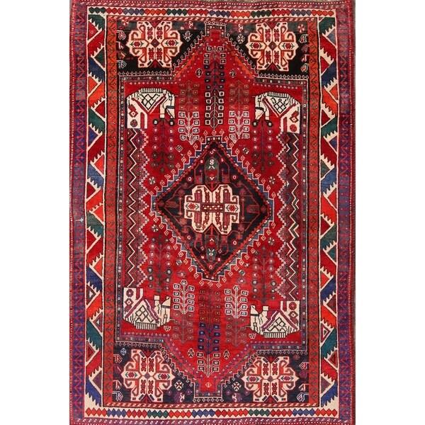 "Oriental Hand Made Shiraz Persian Area Rug for Bedroom - 8'1"" x 5'4"""