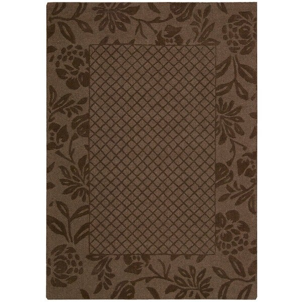 Nourison Barclay Butera Hand-tufted Chocolate Rug - 7'9 x 9'9
