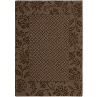 Nourison Barclay Butera Hand-tufted Chocolate Rug - 7'9 x 9'9